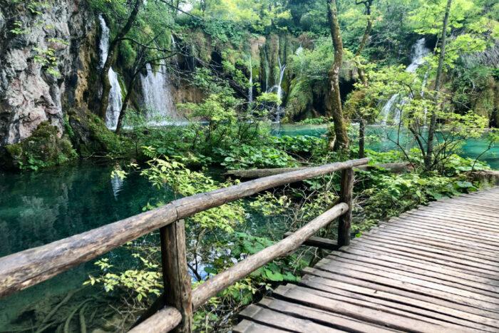 Plitvice watervallen in Kroatie