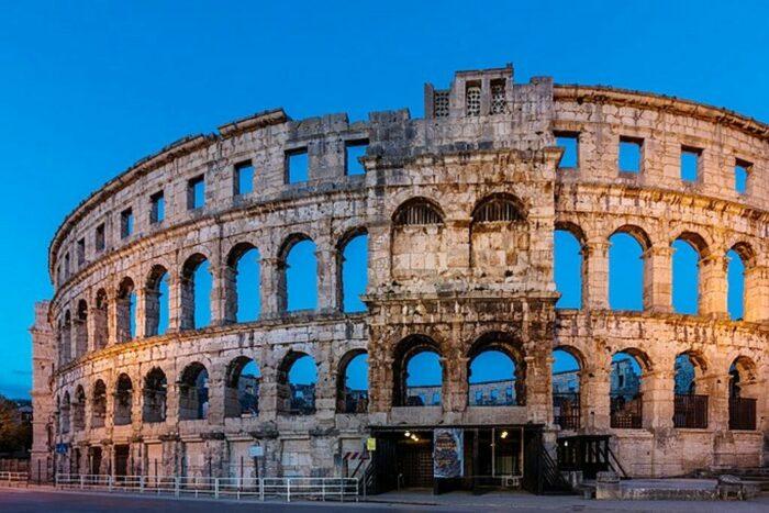 Pula Amfitheater Istrie Kroatie